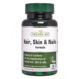 Natures Aid Hair, Skin and Nails Formula, 30 comprimate