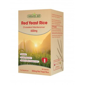 Red Yeast Rice 600mg (Drojdie) - 90 cps vegetale Natures Aid