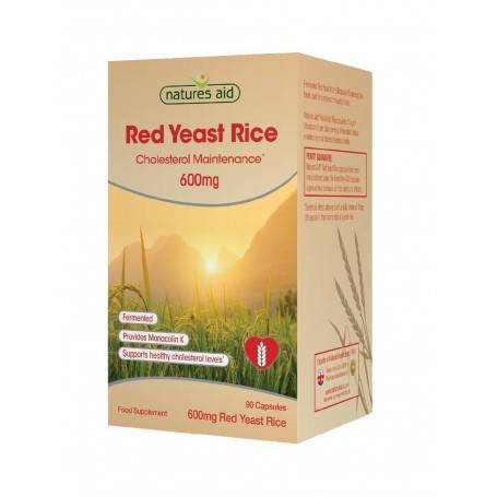 Natures Aid Red Yeast Rice 600mg, 90 capsule vegetale