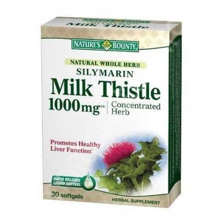SILYMARIN MILK THISTLE 1000MG 30CPS