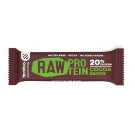Baton Raw Protein cu Boabe de Cacao 50gr