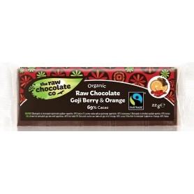 Ciocolata cu Goji si Portocala RAW Organica 22gr