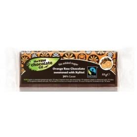 Ciocolata cu Portocale si Xylitol RAW Organica 22g