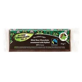 Ciocolata cu Menta si Xylitol RAW Organica 22g