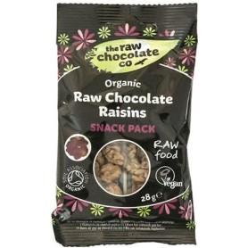 Gustar cu Stafide Invelite in Ciocolata RAW Organice 28g