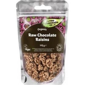 Stafide Invelite in Ciocolata RAW Organice 125 g