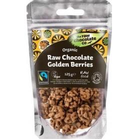 Fructe de Padure Aurii invelite in Ciocolata RAW Organice  125 g