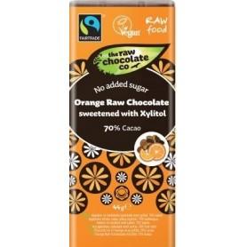 Ciocolata Neagra cu Portocala fara Zahar RAW Organica  44g