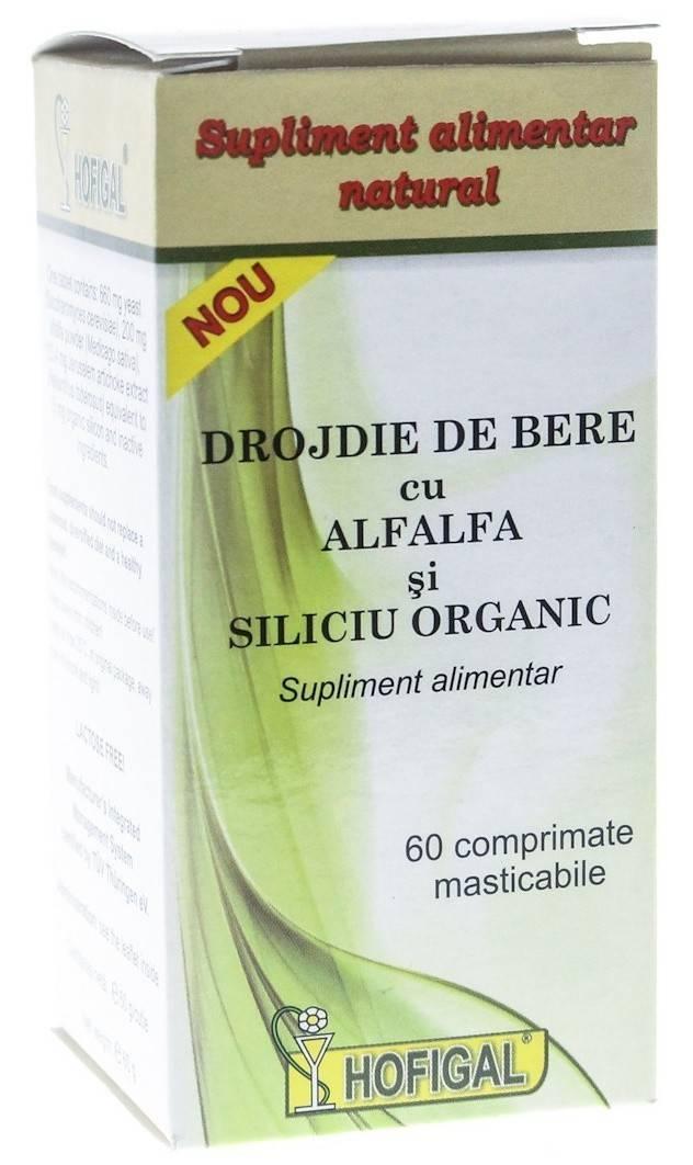 Drojdie de bere cu AlfAlfa si Siliciu Organic 60cps