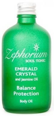 ulei de corp cu cristale de smarald si iasomie - chakra 4 a inimii