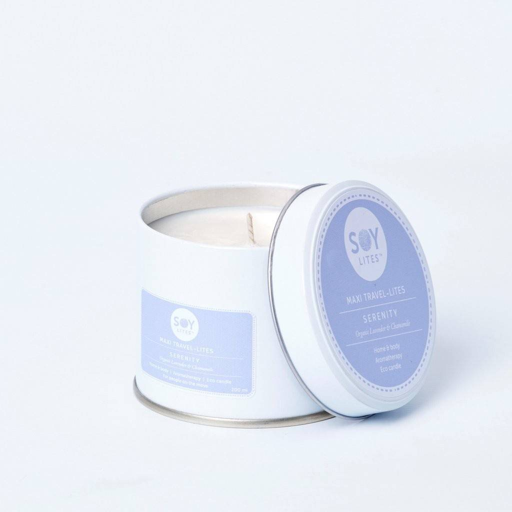 Lumanare Parfumata Crema cu Lavanda - Serenity 200ml/225g