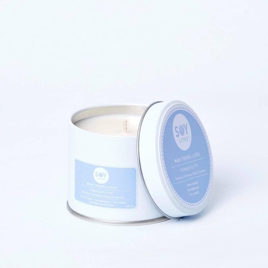 Lumanare Parfumata Crema cu Lemn de Santal - Tranquility 200ml/225g