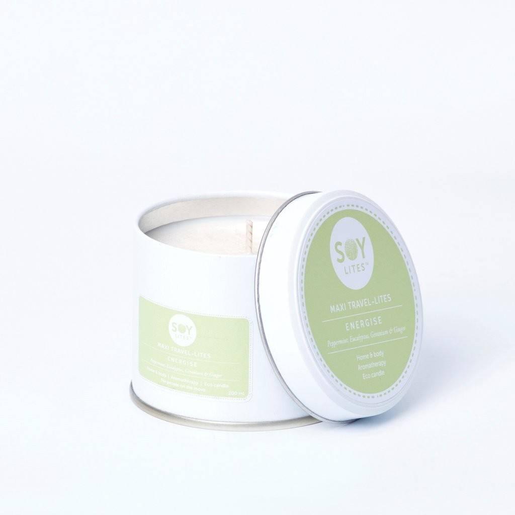 Lumanare Crema cu Eucalyp - Energise 200ml/225g