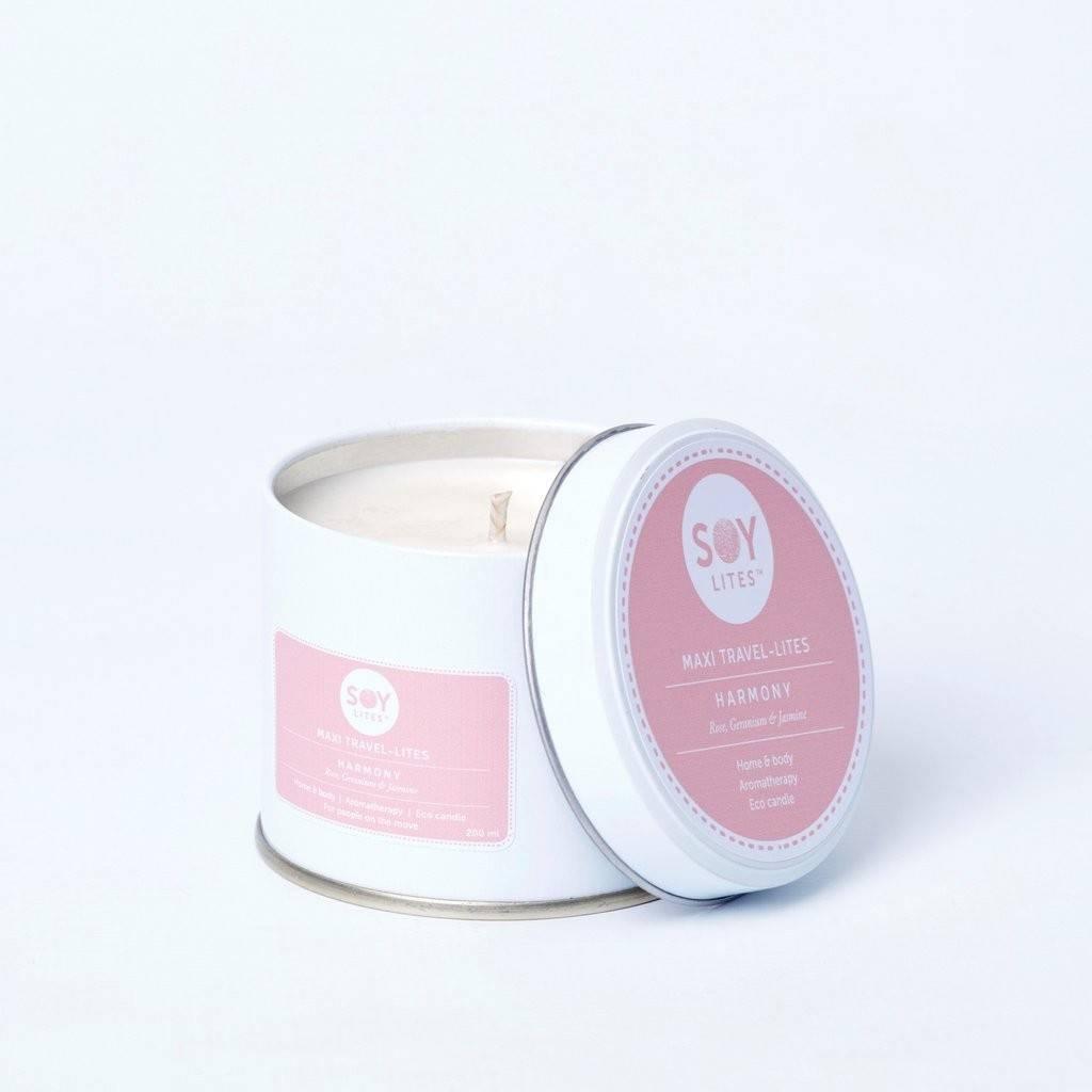 Lumanare Parfumata Crema cu Geranium - Harmony 200ml/225g