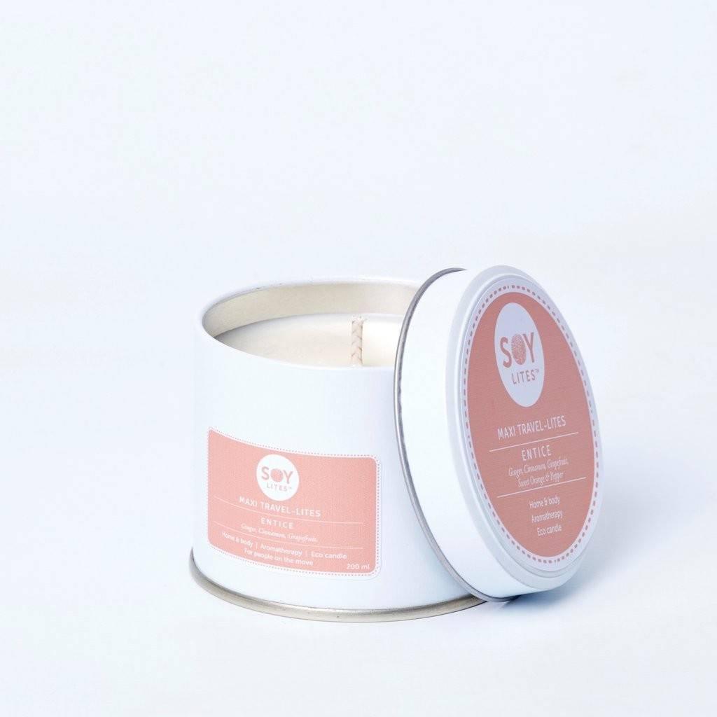 Lumanare Parfumata Crema cu Ginger - Entice 200ml/225g