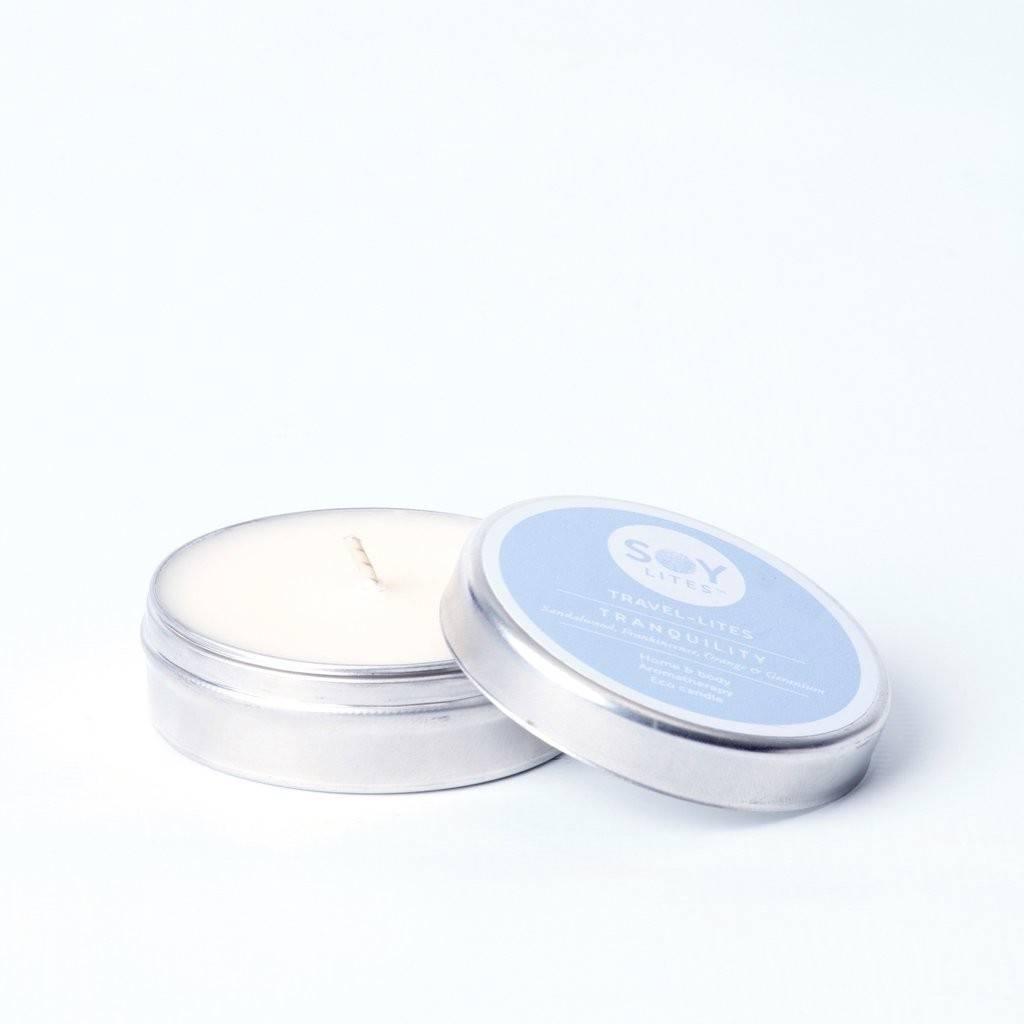 Lumanare Parfumata Crema cu Lemn de Santal - Tranquility 55Ml/74Gr
