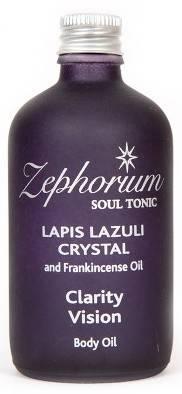 Ulei de Corp cu Cristale de Lapis Lazuli si Tamaie - Chakra 6 al 3-lea ochi