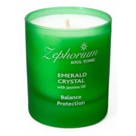Lumanare Emerald Crystal cu Ulei de Iasomie