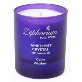 Lumanare Amethyst Crystal cu Ulei de Lavanda