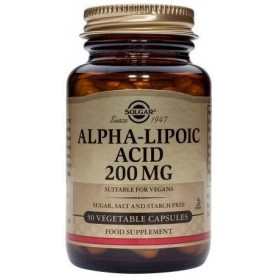 ALPHA LIPOIC ACID 200mg 50veg.caps SOLGAR