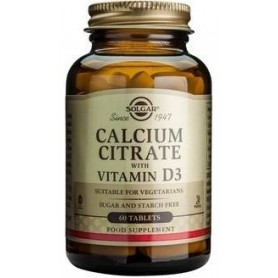 CALCIUM CITRATE 250mg with VITAMIN D3 tabs 60cps SOLGAR