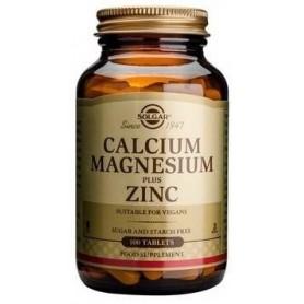 CALCIUM MAGNESIUM + ZINC 100tb SOLGAR