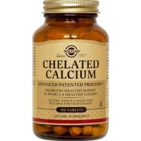 CHELATED CALCIUM 100cpr SOLGAR