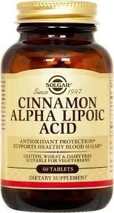 cinnamon alpha lipoic acid ( acid alfa lipoic ) 60tabs solgar