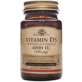 Vitamina D3 - 4000 IU 60cps SOLGAR