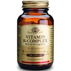 VITAMIN B-COMPLEX WITH VIT.C 100tabs SOLGAR