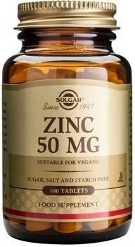 zinc gluconate 50mg 100tb solgar