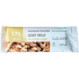 Ciocolata functionala cu lapte de capra (57% cacao) 25g
