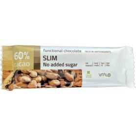 Ciocolata functionala  SLIM (60% cacao) 25g