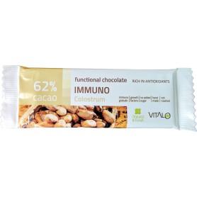 Ciocolata functionala immuno (62% cacao) 25g
