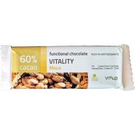Ciocolata functionala vitality Maca (60% cacao) 25g