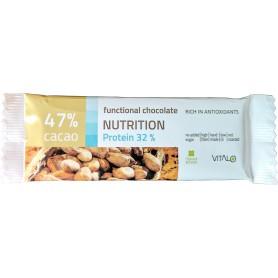 Ciocolata functionala nutrition protein 32% (47% cacao) 25g
