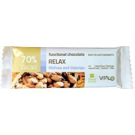 Ciocolata functionala relax cu Valeriana si Roinita (70% cacao) 25g