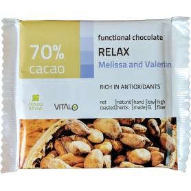 Ciocolata functionala relax cu Valeriana si Roinita (70% cacao) 50g