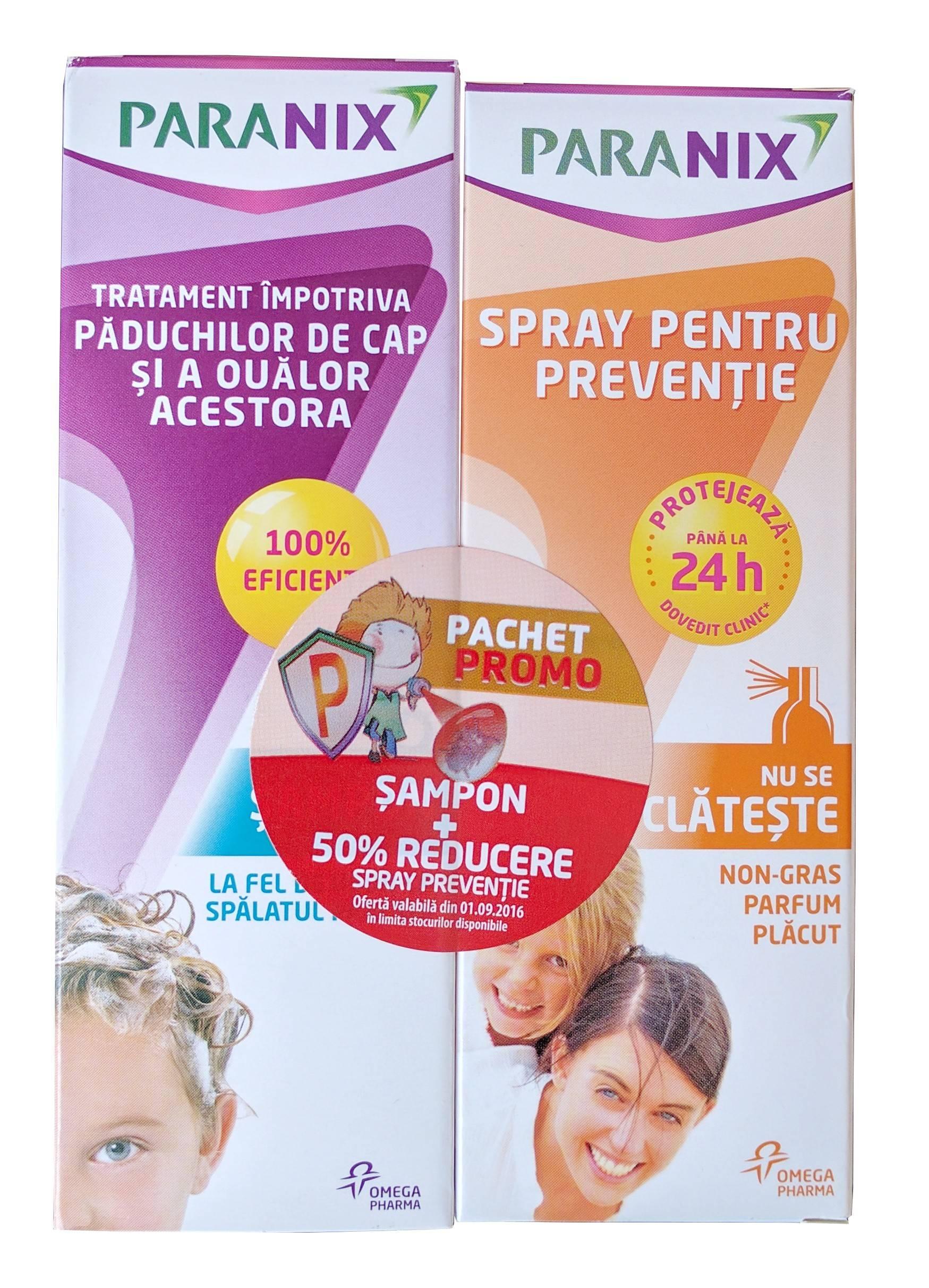 paranix sampon 100ml + spray preventie 100ml