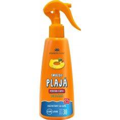 Emulsie pentru plaja rezistentă la apa pentru copii SPF 30 cu ulei de catina , protectie inalta (200 ml)