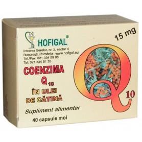 Coenzima Q10 15mg in ulei de catina 40cps moi
