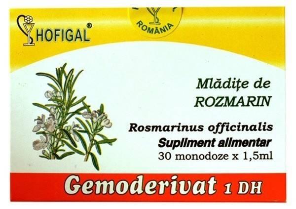 mladite de rozmarin - gemoderivat 30 monodoze