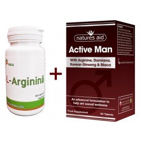 Active Man - 60 comprimate vegetale Natures Aid