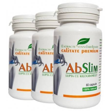 Pachet Tratament 3 luni AbSlim - Capsula de Slabit!