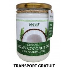 Ulei de Cocos 500ml Raw Organic Extra Virgin - 52% Acid Lauric si Certificat Kosher
