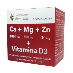 CA+MG+ZN +VITAMINA D3 20DZ