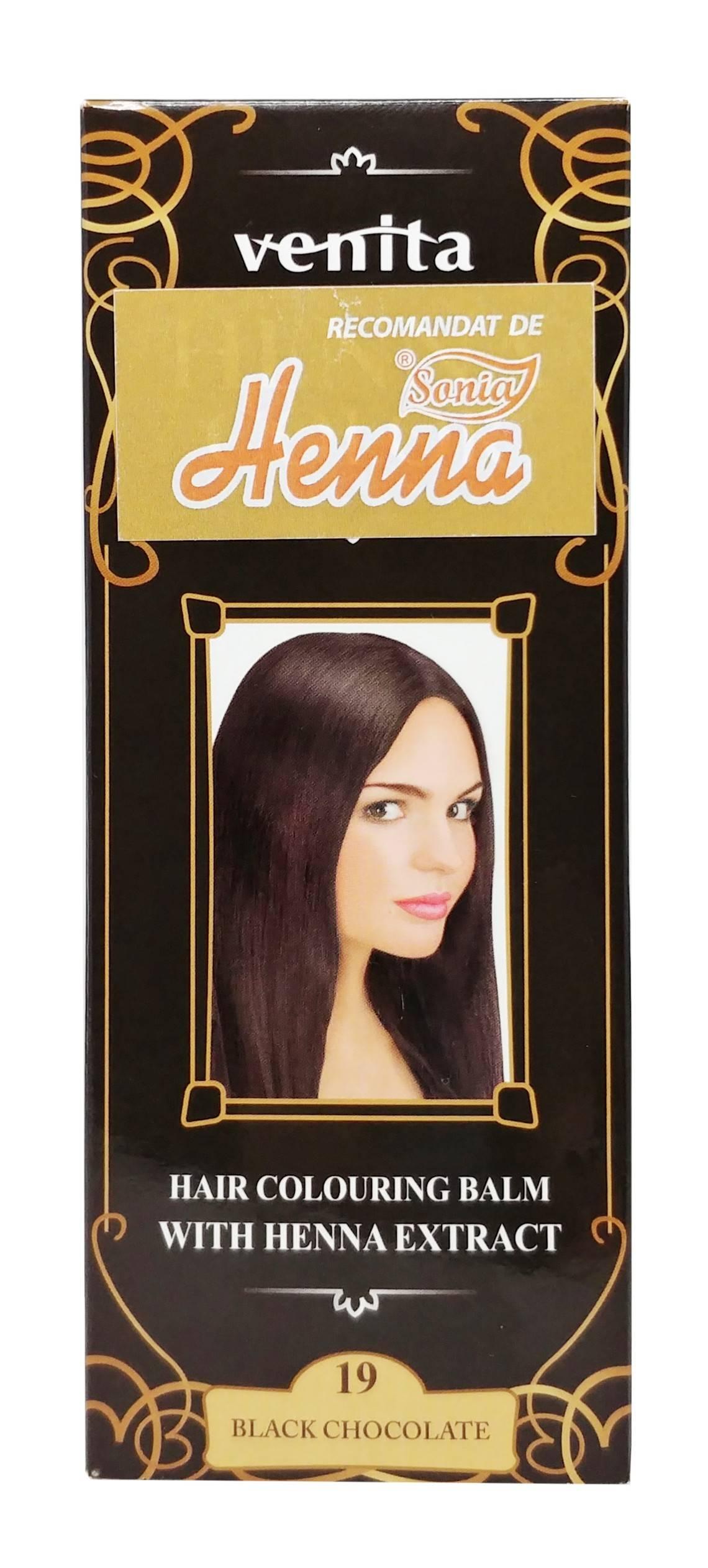 Balsam Colorant Henna Color Nr 19 Black Chocolate 75ML Venita