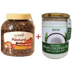 Pastura 500 g Albina Carpatina + Ulei de Cocos 500ml Raw Organic Extra Virgin