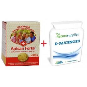 Apisan forte 300g + D-mannose (Manoza) 50tb