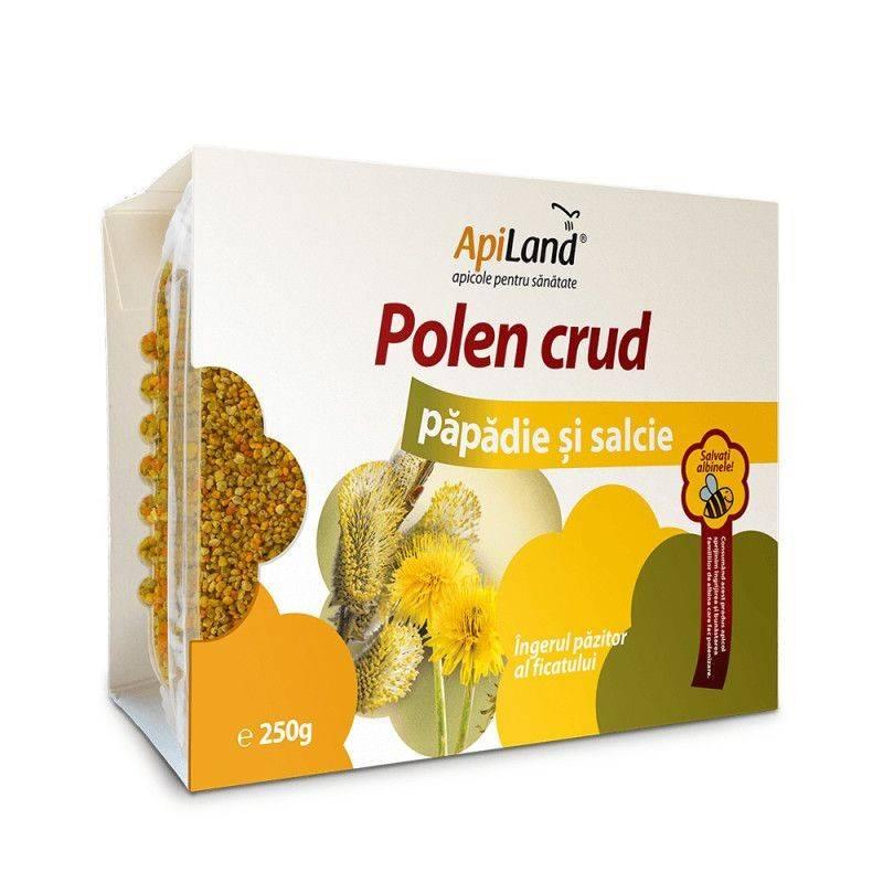 Polen crud papadie si salcie 250 gr Apiland